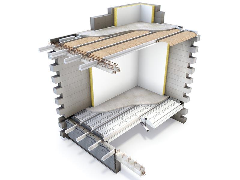 Les planchers Rector pour le vide sanitaire et le haut de rez-de-chaussée, confort thermique et acoustique.
