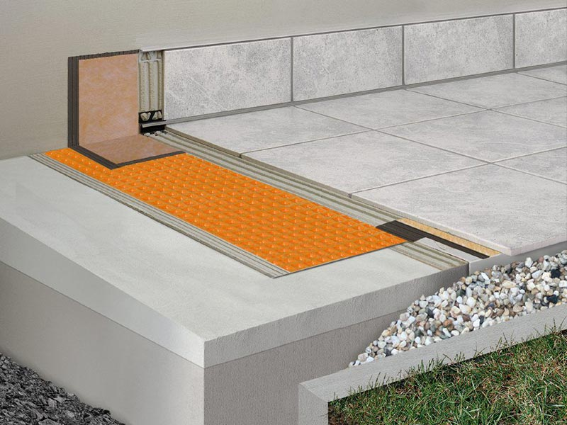 Protégez votre terrasse grâce à la natte d'étanchéité Ditra-Drain Schluter
