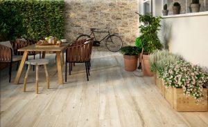 Carrelage imitation bois, Halcon Atelier Beige 24x88